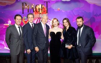 inauguration des vitrines Piaget aux Galeries Lafayette