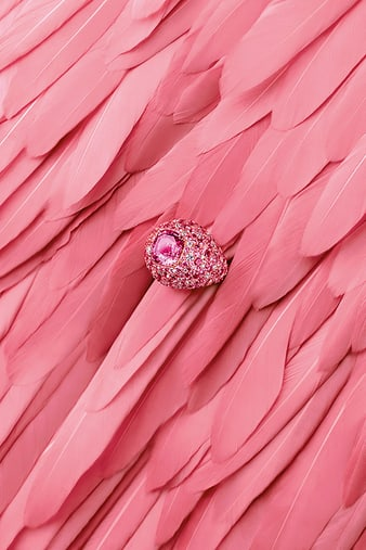 G34HM200 Sunny Side of Life pink sapphire ring
