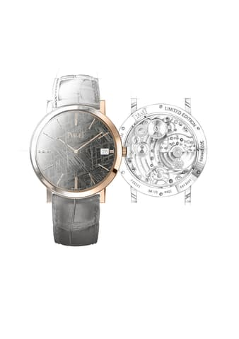 luxury ultra-thin watch with a hard stone dial