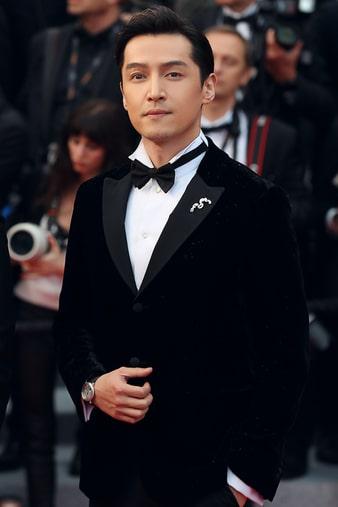 피아제 알티플라노 다이아몬드 시계를 착용한 배우 호가(Hu Ge)