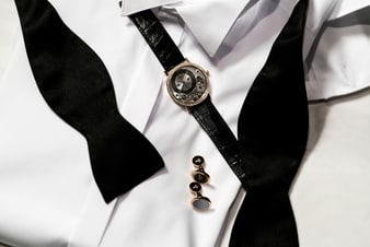 altiplano luxury men watch and cufflinks