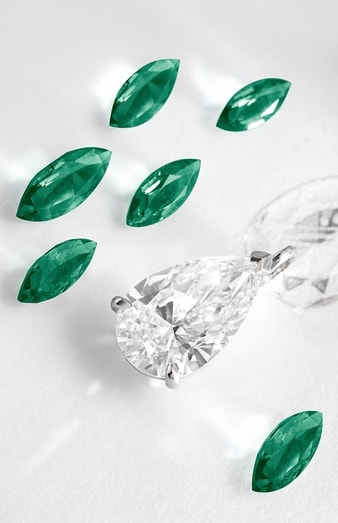 haute joaillerie collier mit diamanten im tropfenschliff.