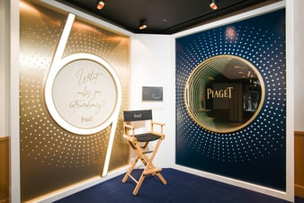 特別為Vanessa Franklin的《Bleu》攝影展覽而設的空間