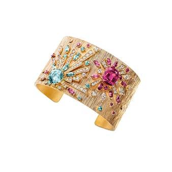 Bracelet manchette haute joaillerie de la collection Sunny Side of Life