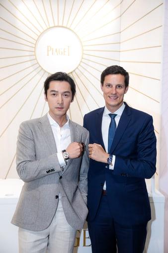 Hu Ge wearing an Altiplano ultra-thin watch for men