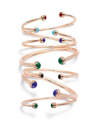 Bracelets en or rose pour femme