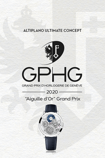 """Altiplano Ultimate Concept Watch winner of the """"Aiguille d'Or"""" at the GPHG"""