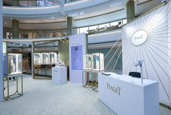 Piaget's exhibition featuring luxury jewellery and ultra-thin watches