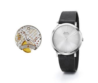 Altiplano white gold watch for men