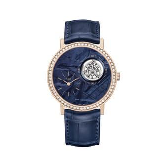 럭셔리 핑크 골드 뚜르비옹 시계