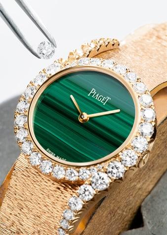 Fasserkunst: Uhr Piaget Limelight Gala aus Gold und Diamanten