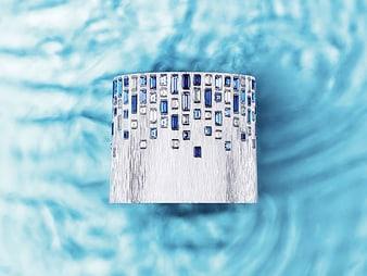 Manchette lapis lazuli et diamant Sunny Side of Life G36M3400