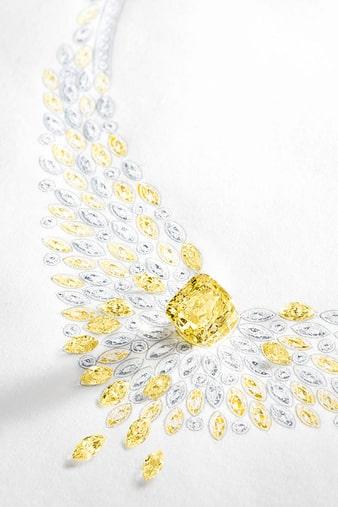 golden hour haute joaillerie collier