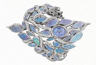 Montre bijou de luxe en diamant