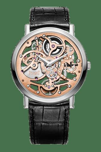Altiplano rose gold ultra-thin skeleton watch