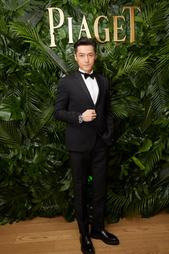 Hu Ge wearing a Altiplano Tourbillon rose gold watch