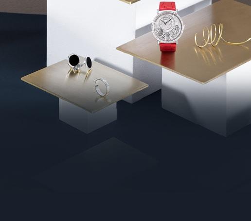 ساعة من الذهب الأبيض والماس ومجوهرات فاخرة