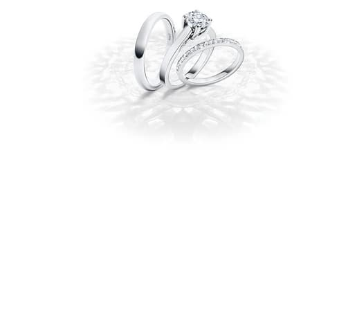 Weißgold-Trauring mit Diamanten