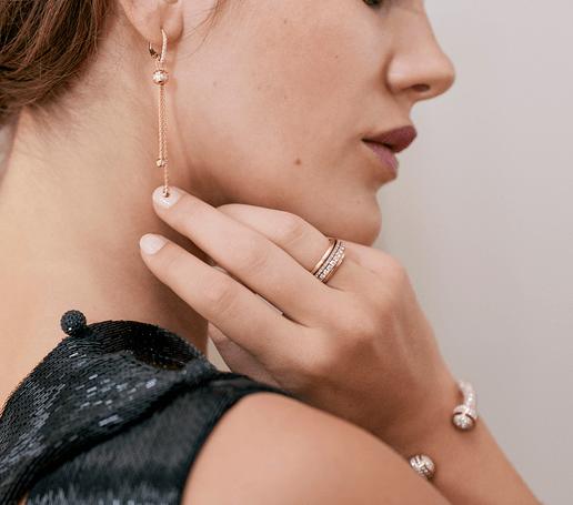 luxury rose gold diamond earrings