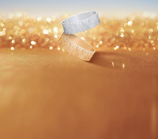 익스트림리 피아제 여성용 핑크 골드 다이아몬드 링