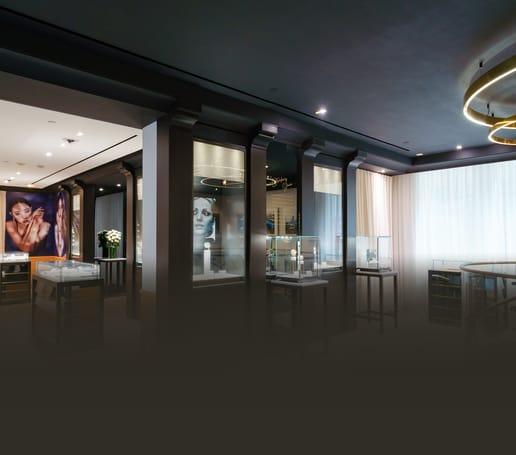 伯爵文華東方酒店專賣店的高級腕錶和珠寶