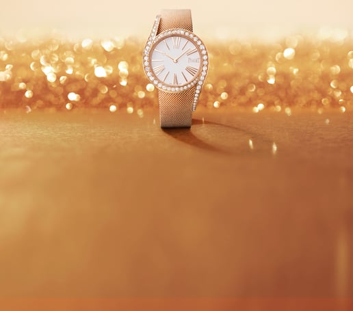 Montre de luxe Limelight Gala en or rose et diamants