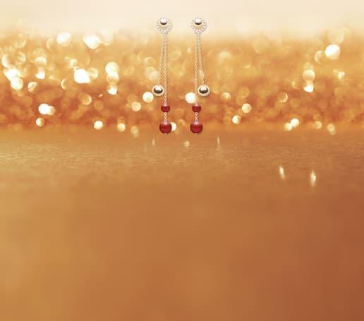 Possession rose gold diamond earrings