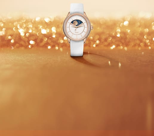Piaget woman jewellery watch in rose gold set with diamond