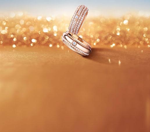 Bagues Possession en or rose et diamant