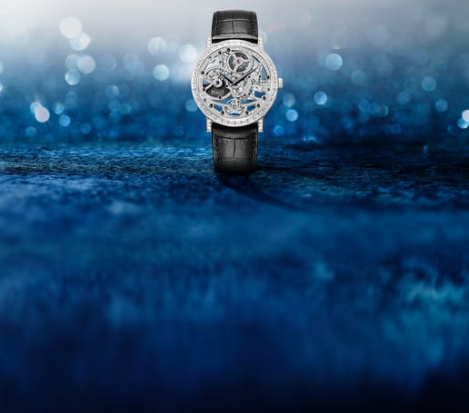 Piaget High Jewellery skeleton watch in white gold and diamond