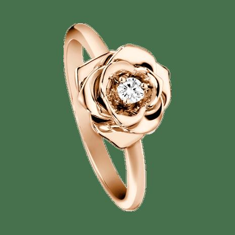 model cincin pernikahan mewah rose gold