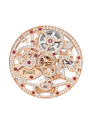 1200D1 rose gold gem-set skeleton movement