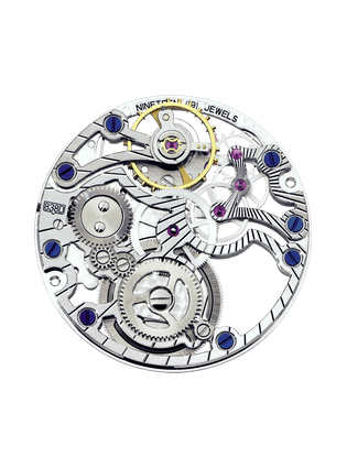 838D gem-set skeleton movement
