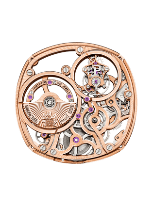 Mouvement 1270S squelette or rose