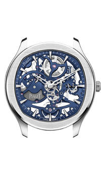Steel skeleton luxury watch