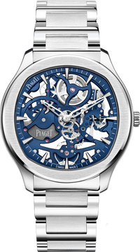 Skeleton steel luxury watch