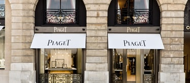 Piaget jewellery and watch boutique in Paris France