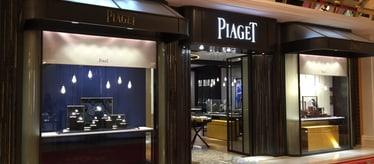 Boutique Piaget à Macao - bijoux et montres de luxe