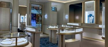Piaget men luxury watch boutique in Shanghai
